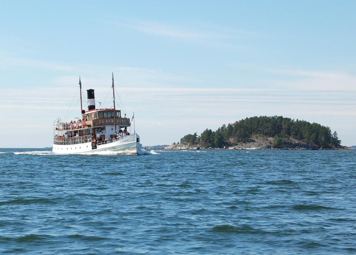 Runeberg på väg mot Borgå.